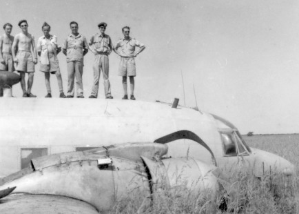 All crew safely atop the Vickers Valetta