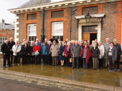 Outside the Pensioners' Club which has just has £1,000,000 refit