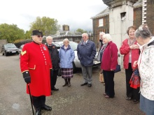 One of the guides with a small group from the Probus Club
