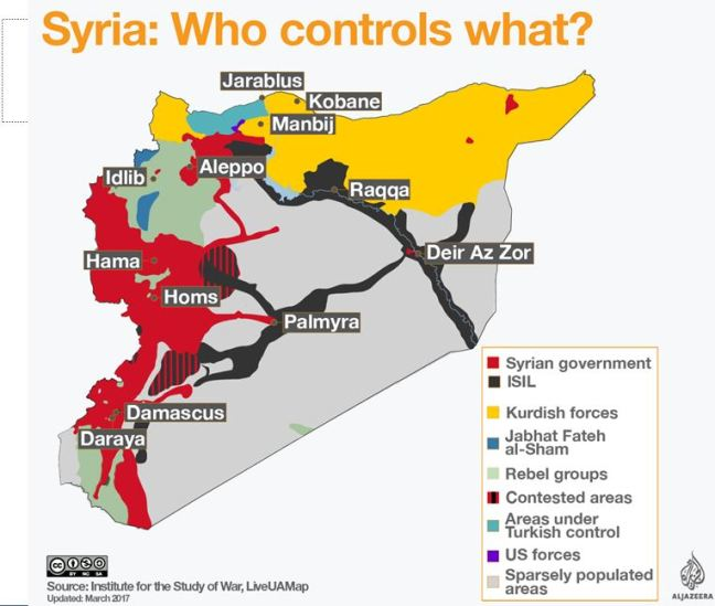 Syria who controls whatCapture