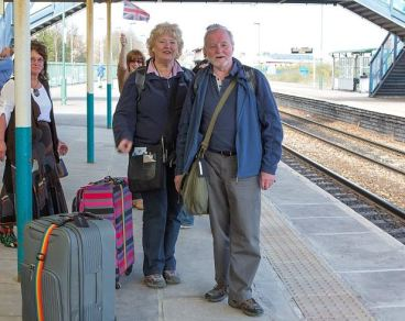 Liz & Tony Barron at Barry station