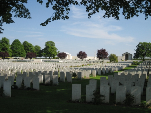Serre Road No 2 Cemetery on the Somme designed by Lutyens