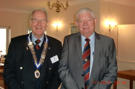 president chris perkins with paul miller