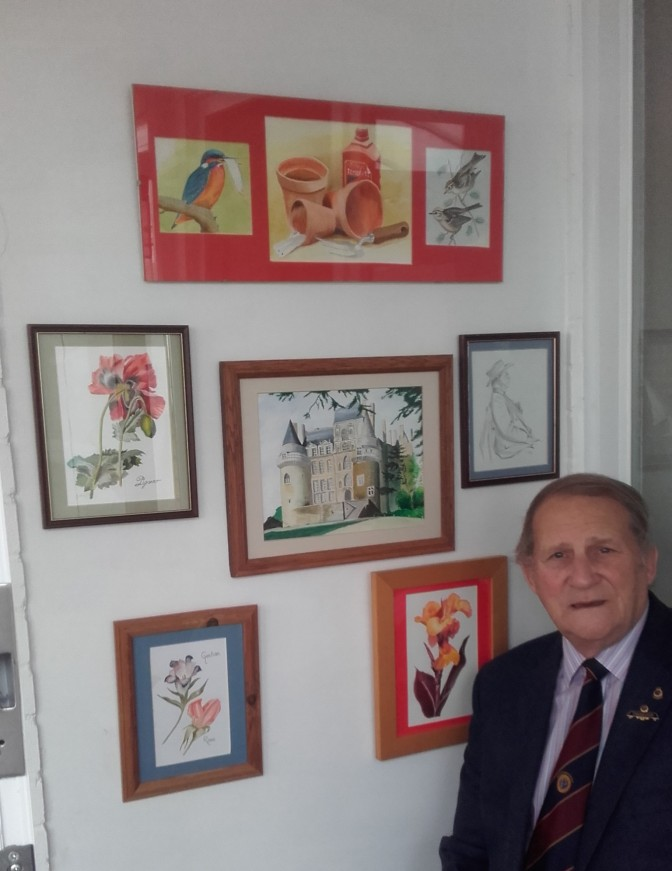 Alan May with some of his paintings (2)