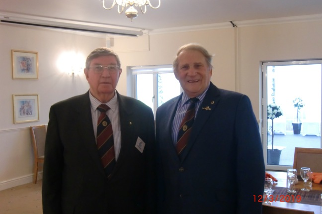 Richard Wood Probus Vice President (left) with Speaker Alan May